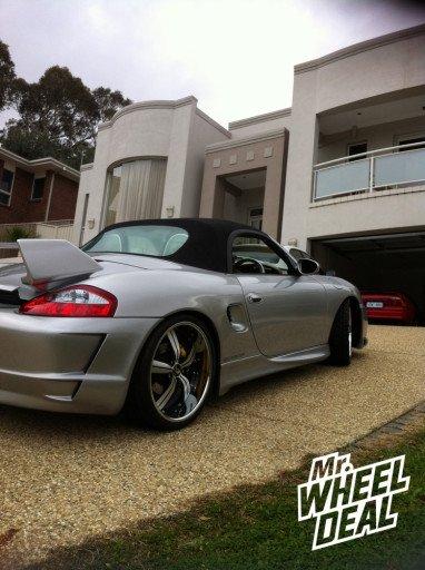 "Custom 20"" Forgiato Rotorno Wheels on a '97 Porsche Boxter"