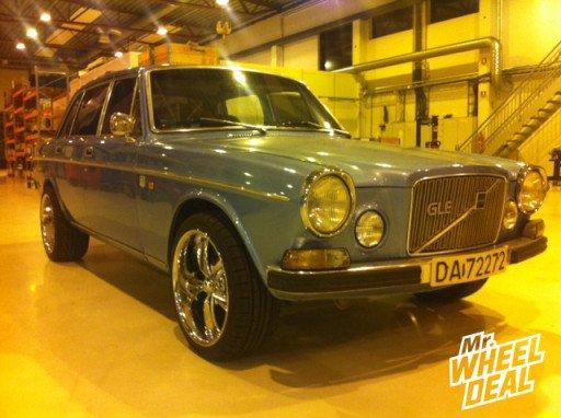 Eagle Alloy Boss 338 Wheels on a 1973 Volvo 164