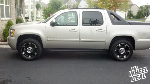 XD Series Spy XD797 Gloss Black Machined Wheels on a 2007 Chevy Avalanche