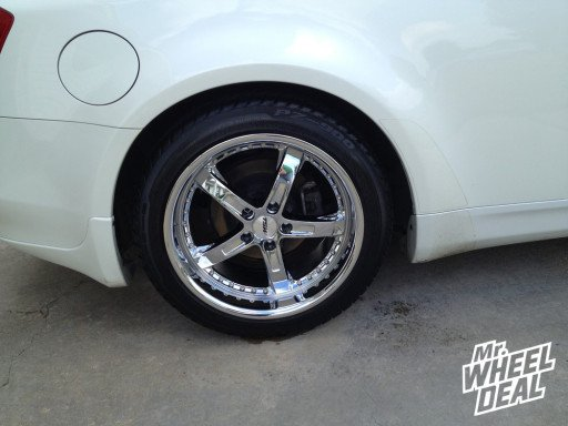 Chrome TSW Jarama Wheels on a 2004 G35 Coupe