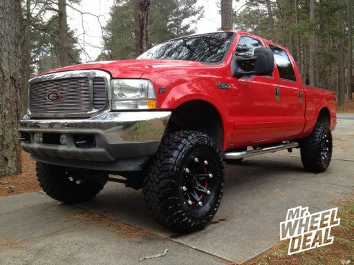 "17x9"" Ballistic Jesters on a 2003 Ford F-250"