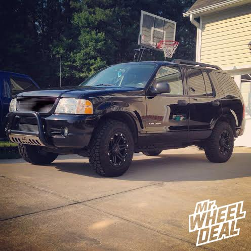 17x8 Tuff T01 Wheels with LT245/70/17 Goodyear Duratrac Tires on a 2005 Ford Explorer