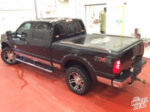 """20x9"""" Super Finish American Eagle 79 wheels with 305/55/20 Cooper ST MAXX Discovery tires on a 2011 Ford F-250"""