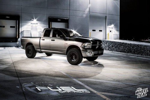 17x9 Fuel Off-Road Formula -12 wheels with 35X12.50R17 Nitto Trail Grappler tires on a 2009 Ram 1500