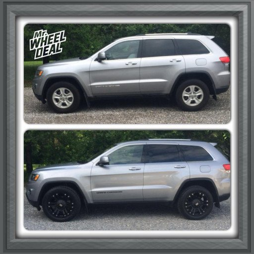 Before and After 2014 Jeep Grand Cherokee Laredo with 20x9 XD Series Monster Black Wheels with 265/50/20 Federal Couragia SU Tires