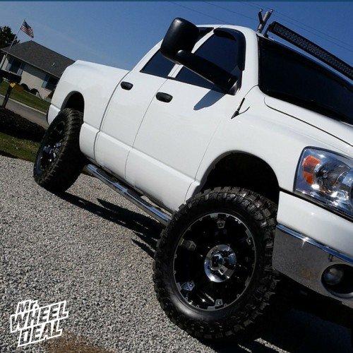 20x9 XD Spy Black wheels -12 offset with 35x12.50r20 Atturo Trail Blade MT tires on a 2007 Ram 1500