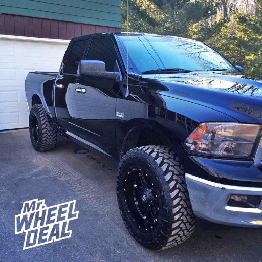 """20x10"""" Fuel Off-Road Hostage Wheels with 35x12.50x20 Toyo Open Country MT Tires on a 2012 Dodge Ram 1500"""