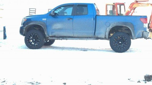 """20x12"""" Moto Metal 962 Matte Black Wheels with 35x12.50x20 Federal Couragia MT Tires on a 2008 Toyota Tundra"""