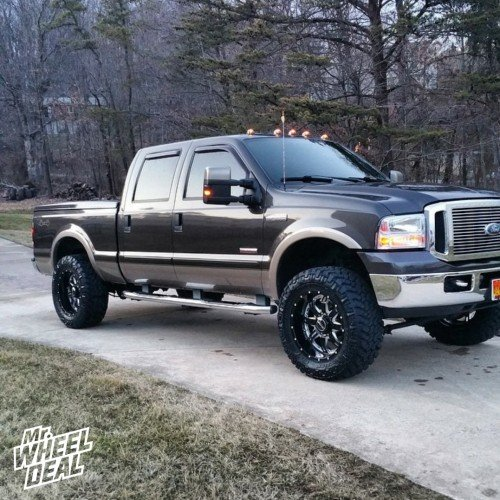 20x10 BMF REPR Death Metal wheels with 35x12.50x20 Nitto Trail Grappler tires on a 2006 Ford F-250