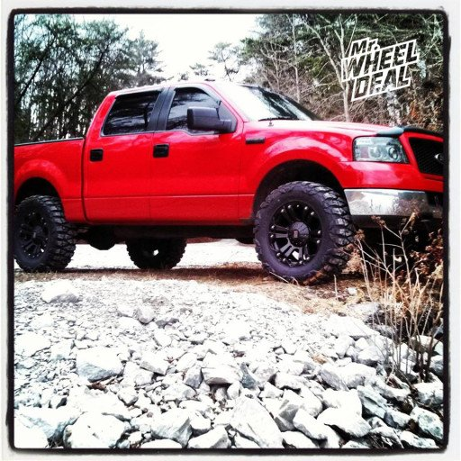 """20x9"""" XD Monster Black Wheels on a 2005 Ford F-150"""