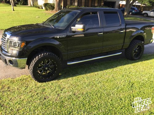 """20x10"""" Fuel Off-Road Maverick D538 -12 wheels with LT305/55R20 Nitto Trail Grappler MT tires on a 2012 Ford F-150"""
