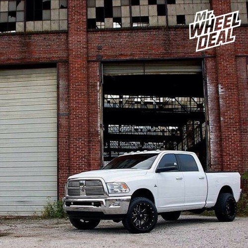 """20"""" Fuel Maverick D538  wheels with 305/50/20 Nitto Terra Grappler tires on a 2010 RAM 2500"""