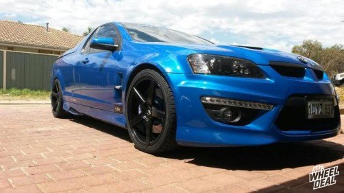 20: XO Miami Matte Black wheels with 255/35/20 and 285/30/20 Nexen N3000 VE2 tires on a LS3 R8 Maloo