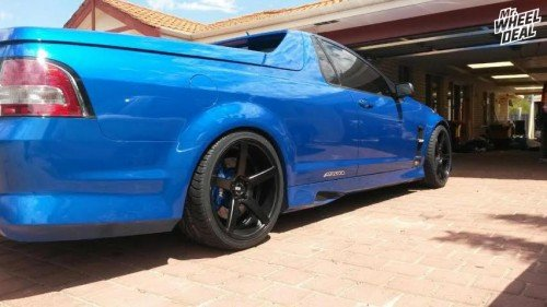 20x8.5 and 20x10 XO Miami Matte Black wheels with 255/35/20 and 285/30/20 Nexen N3000 VE2 tires on a LS3 R8 Maloo