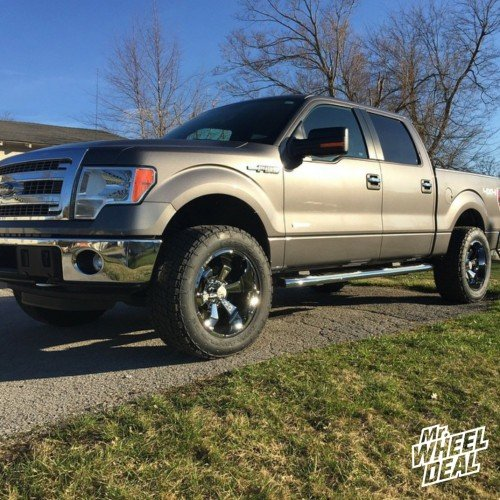 20x10 Hostile H103 Armor Plate -19 wheels with LT305/55/20 Nitto Terra Grappler G2 tires on a 2013 Ford F150