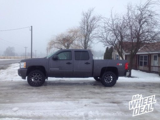 """20x9"""" Fuel Off-Road Maverick Wheels with Nitto Terra Grappler Tires on a 2011 Chevy 1500"""