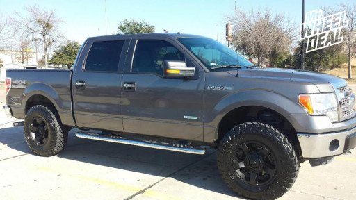 """18x9"""" XD Rockstar II Wheels with LT285/75/18 Toyo Open Country MT Tires on a 2013 Ford F-150"""