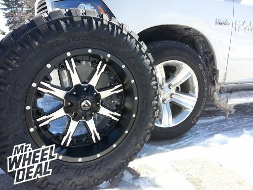 """20x10"""" Fuel Off-Road Nutz Wheels with 35x12.50x20 Nitto Trail Grappler Tires"""