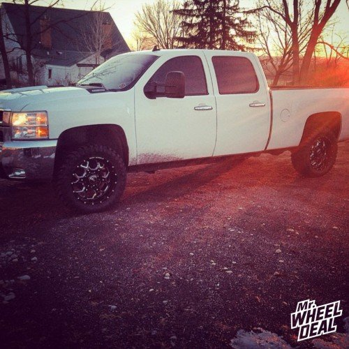 "2007 Chevy 2500 with 20x9"" BMF Death Metal SOTA wheels with 33X12.50R20 Atturo Trail Blade MT tires"