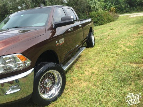 2015 Ram 3500 with 20x10 Polished American Force Vector FP8 wheels and 305/50/20 NT420S tires