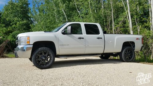 """20x9"""" Fuel Off-Road Maverick +1mm wheels with LT285/55/20 Nitto Terra Grappler G2 tires on a 2009 Chevy Silverado 2500HD"""