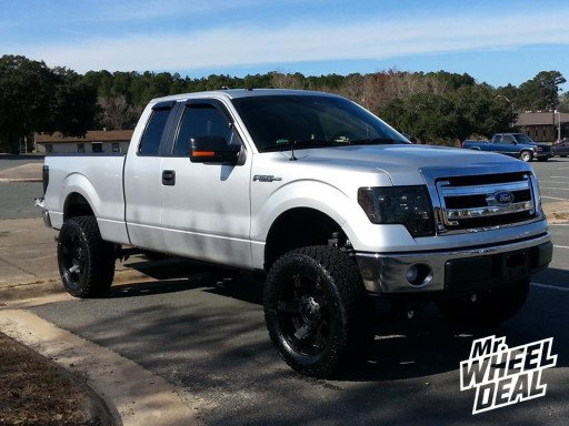 """20x9"""" XD Rockstar II Wheels with 35x12.50x20 General Grabber AT II Tires on a 2013 Ford F-150"""