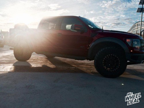 """2014 Ford F-150 Raptor with 18x9"""" Method NV Black +18 wheels and 35/12.50/18 Nitto Trail Grappler MT tires"""