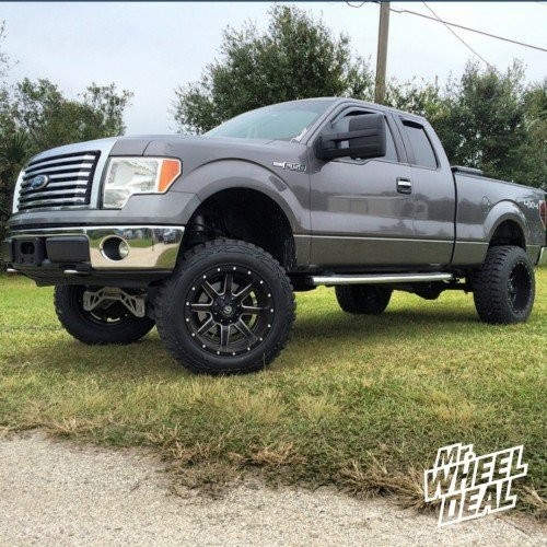"20x12"" Fuel Off-Road Maverick wheels with 35X12.50R20 Pro Comp Xtreme MT2 tires on a 2011 Ford F-150"