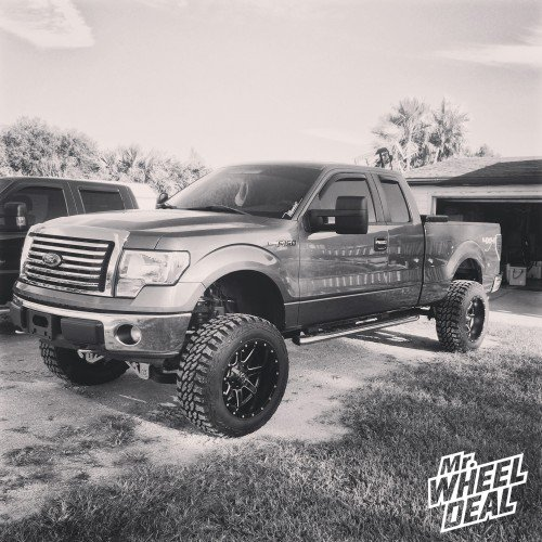 20x12 Fuel Maverick wheels with 35X12.50R20 Pro Comp Xtreme MT2 tires on a 2011 Ford F-150