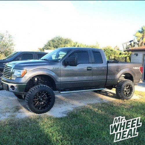 "20"" Fuel Maverick wheels with 35"" Pro Comp Xtreme MT2 tires on a 2011 Ford F-150"