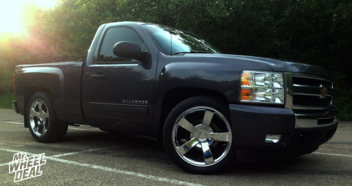 2010 Chevy 1500 with 22x10 Strada Replicas 141 Chrome Wheels with 285/45/22 and 305/45/22 Nitto NT420S Tires