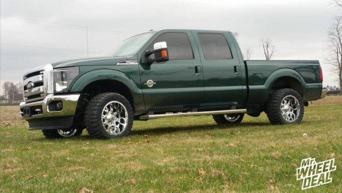 20x10 Dropstar 645C wheels with LT33x12.50x20 Federal Couragia MT tires on a 2012 Ford F250