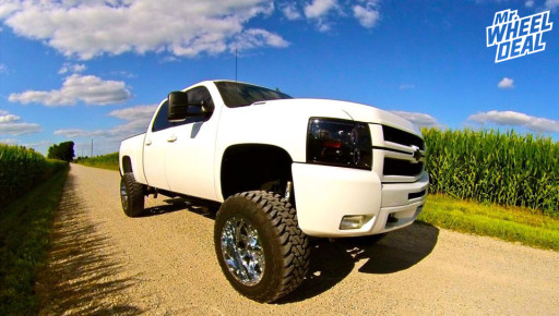 2008 Chevy Silverado 2500HD with 20x12 Fuel Throttle Wheels with 35x12.50x20 Toyo Open Country MT Tires