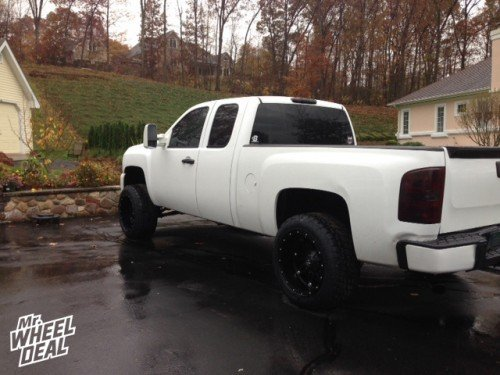 """20X12"""" Fuel Off-Road Hostage wheels with 305/50/20 Nitto Terra Grappler tires on a 2008 Chevy Silverado 1500"""