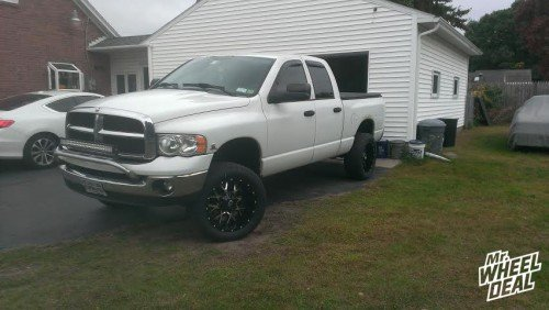 "20"" Dropstars 645MB wheels with 305/50/20 NT420-S tires on a 2005 Ram 2500"