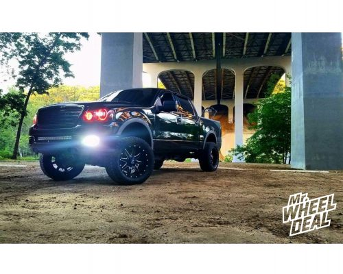 """20x10"""" Fuel Maverick D538 -24 wheels with 305/55/20 Toyo Open Country ATII tires on a 2004 Ford F-150"""