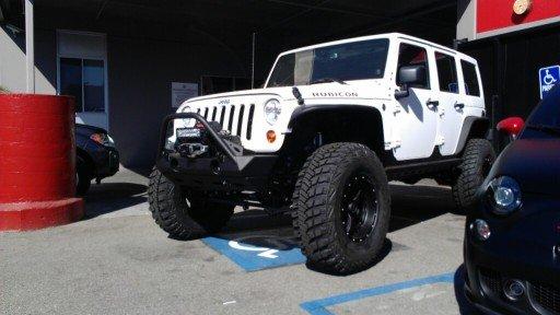 "17x9"" BMF Novakane Stealth Wheels on a 2013 Jeep Wrangler Rubicon"
