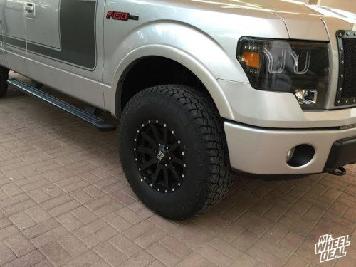 """17x9"""" XD Series Heist wheels with 315/70/17 Falken Wild Peak AT tires on a 2013 Ford F-150"""