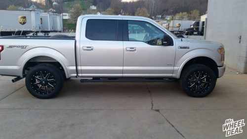 20x9 Fuel Maverick wheels with 275/60R20 Toyo Open Country ATII tires on a 2016 Ford F150