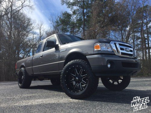 "20x10"" Fuel Off-Road Maverick -12mm wheels with LT285/55/20 Toyo Open Country AT II tires on a 2011 Ford Ranger"