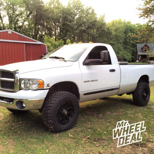 17x9 XD Misfit Wheels with LT285/70/17 Cooper ST MAXX Tires on a 2004 RAM 2500