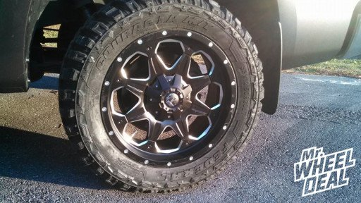 """20x9"""" Fuel Off-Road Boost Wheels with 33x12.50x20 Federal Couragia MT Tires on a 2011 Toyota Tundra"""