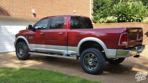 """2014 Ram 2500 with 20x9"""" American Racing 901 PVD Chrome wheels and LT295/60/20 Toyo Open Country A/T II tires"""