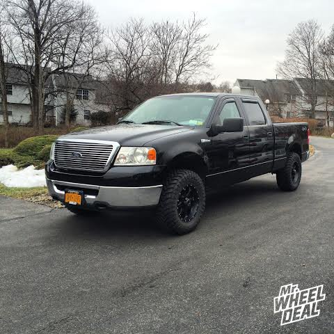 17x9 Raceline Assault 991B wheels with +25 with 33x12.50x17 Atturo Trail Blade MT tires on a 2006 Ford F-150