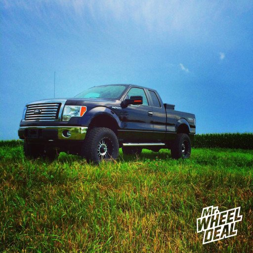 18x9 XD Series Riot Machined Wheels with LT325/65/18 Nitto Terra Grappler Tires on a 2011 Ford F-150