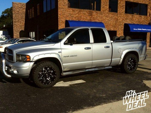 """20"""" Fuel Lethal -12 wheels with 33"""" Atturo Trail Blade MT tires on a 2003 RAM 2500"""