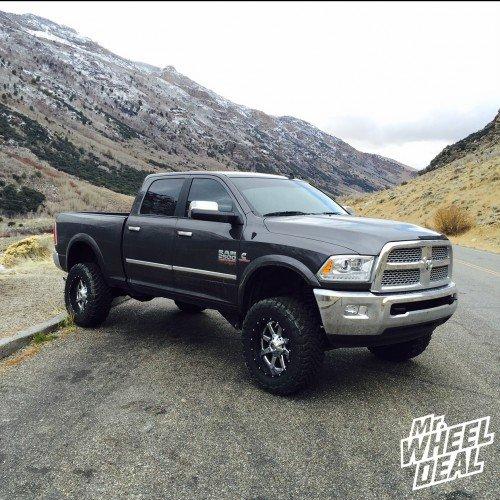 "20x10"" Fuel Maverick Chrome Center wheels -19 offset on a 2014 RAM 2500"