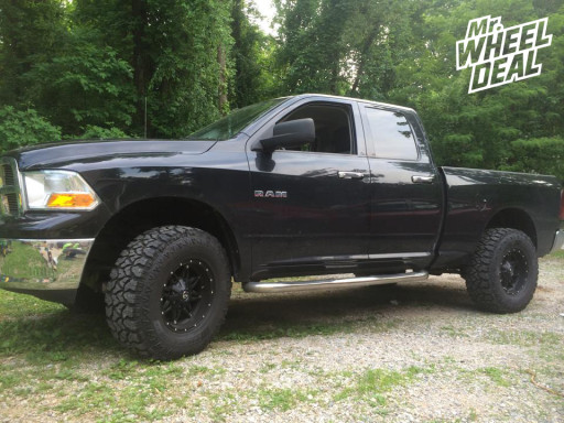 17x9 Fuel Off-Road Hostage Wheels with 35X12.50R17 Fierce Attitude MT Tires on a 2009 RAM 1500