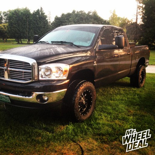 """18x9"""" Fuel Offroad Krank Wheels with LT325/60/18 Nitto Terra Grappler Tires on a 2008 Ram 2500"""