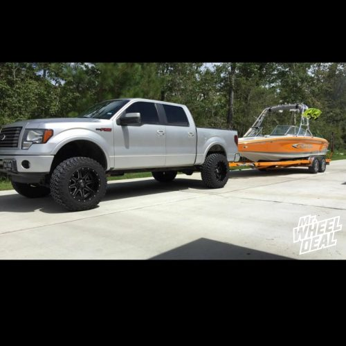 """20x12"""" Fuel Off-Road Maverick -44 wheels with 35x12.50R20 Nitto Trail Grappler tires on a 2012 Ford F-150"""